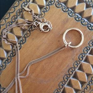 Fossil Rose Gold Necklace